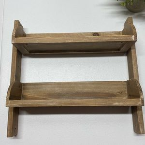 Wall Art - New Rustic  2 Tier Wooden Floating Shelve
